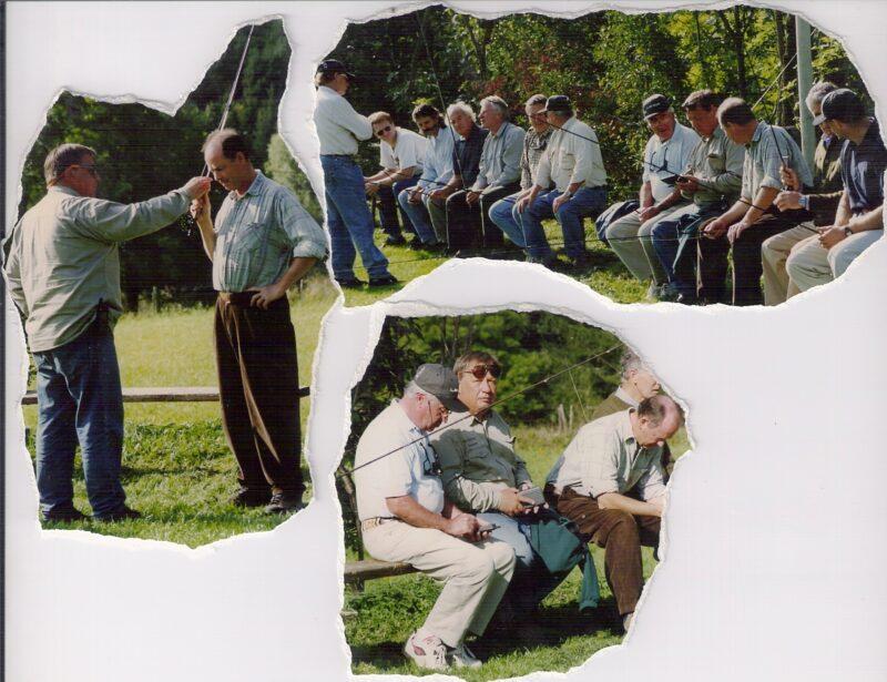 Billede til venstre: Walter får lige lidt indlæring. Billede2: Der er lidt at diskutere på bænken.. Billede 3. Kom til Skandinavien drenge, så skal i bare se..