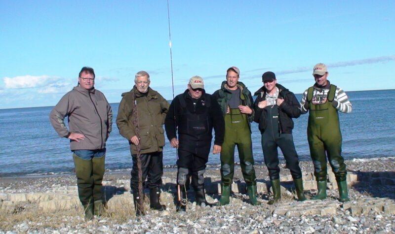 Gruppe billede, inden vi igen skilles, men starten på 5 nye fluefiskere!